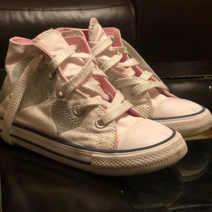 Converse girls high top sneakers size 10